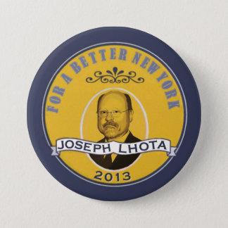 Joseph Lhota för NY-borgmästare 2013 Mellanstor Knapp Rund 7.6 Cm
