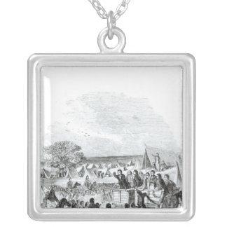 Joseph smed som predikar i vildmarken silverpläterat halsband