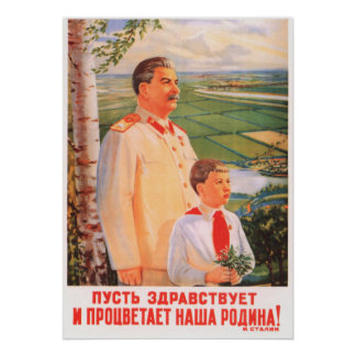 Joseph Stalin sovjetisk propagandaaffisch Poster