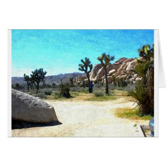 Joshua träd och stenar hälsningskort
