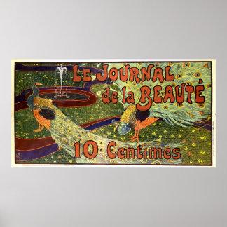 Journalannons för art nouveau 1897 av Louis Rhead Poster