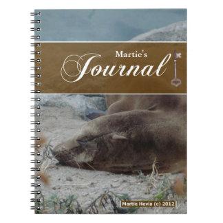 Journalanteckningsbok - sjölejon anteckningsböcker