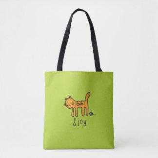 &joy klotter för gullig katt tygkasse