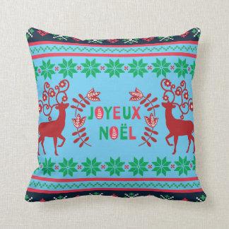 Joyeux Noel dekorativ kudde