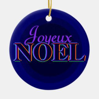 Joyeux Noel julprydnad Julgransprydnad Keramik