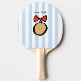 Joyeux Noël paddlar den guld- prydnadpingen Pong Pingisracket