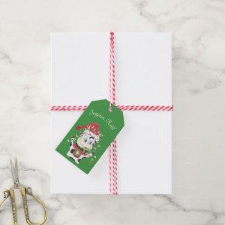 Joyeux Noël Snowbell gåvamärkre Presentetikett