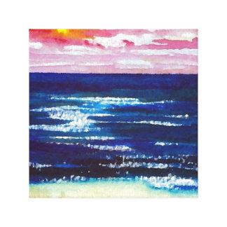 Joyous målning för hav för hav för canvastryck