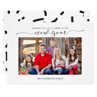 Jubel i helgdagkortet för nytt år 12,7 x 17,8 cm inbjudningskort