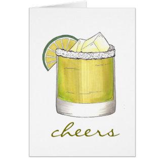 Jubel! Margaritacoctailcoctailar med salt Hälsningskort
