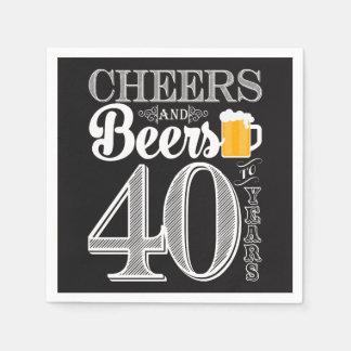 Jubel och öl till 40 år coctailservetter pappersservetter