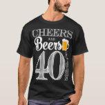 Jubel och öl till 40 år manar T-tröja Tee Shirts