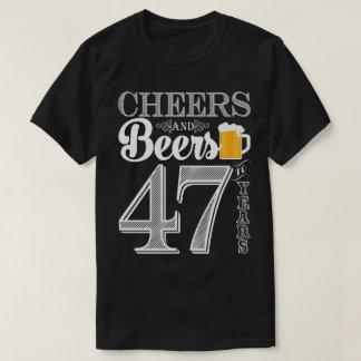 Jubel och öl till 47 år manar T-tröja T-shirts