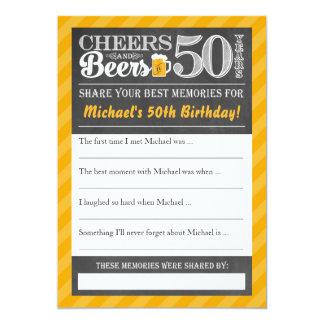 Jubel och öl till 50 år •, Dela ett minneskort 12,7 X 17,8 Cm Inbjudningskort