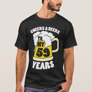 Jubel och öl till min 59 år 59th födelsedagdel tröja