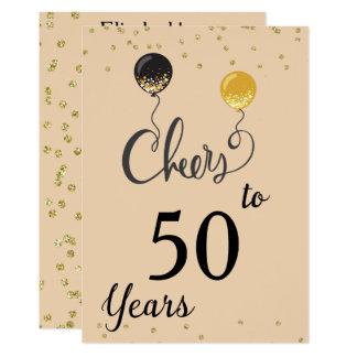 Jubel till 50 år 12,7 x 17,8 cm inbjudningskort