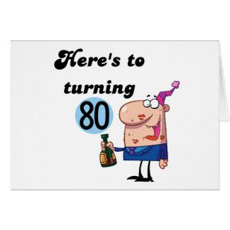 Jubel till 80 födelsedagTshirts och gåvor Hälsningskort