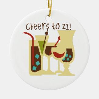 Jubel till födelsedag 21 julgransprydnad keramik