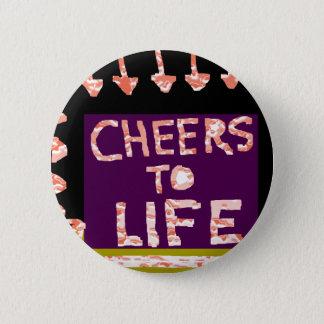 Jubel till liv - konstnär tillverkade motiv standard knapp rund 5.7 cm