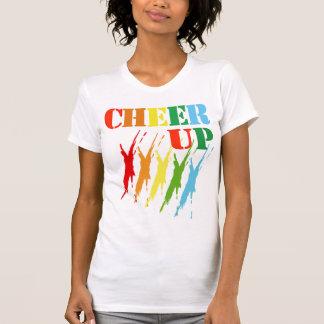 JUBEL UPP/T-tröja, färgrik design för dräkt+text T-shirt