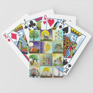 Judaica 12 stammar av Israel konst Spelkort