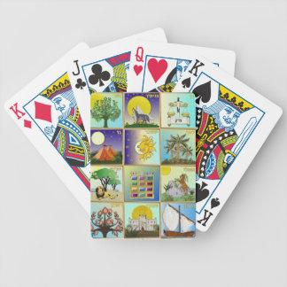 Judaica 12 stammar av Israel konsttryck Spelkort