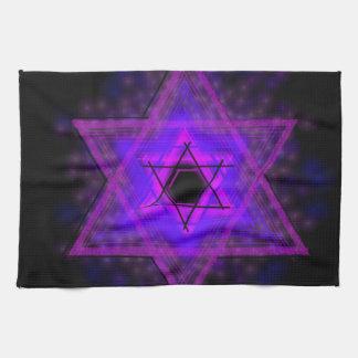 Judaica… glöda i mörker kökshandduk