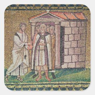 Judas ångrar, platser från livet av Kristus Fyrkantigt Klistermärke