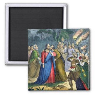 Judas förråder hans ledar-, från en bibel som by s magnet