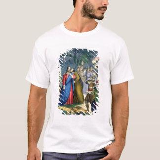 Judas förråder hans ledar-, från en bibel som by t-shirt