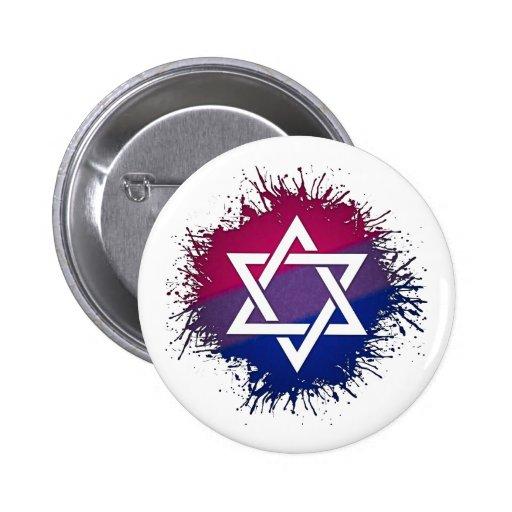 Judisk davidsstjärna - bisexuell person nål