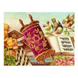 Judisk konst för vintage vykort