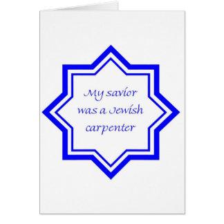 Judisk snickare hälsningskort