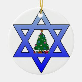 Judisk stjärnajulgranprydnad julgransprydnad keramik