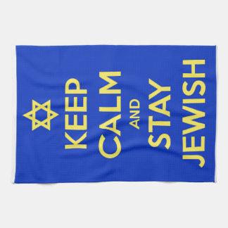 Judiska behållalugn och stag kökshandduk