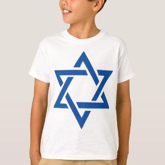 Judiska davidsstjärnablått t-shirts