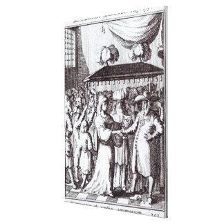 Judiskt bröllop canvastryck