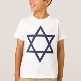 Judiskt davidsstjärnasymbol tee shirts