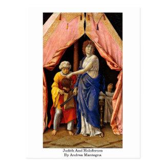 Judith och Holofernes av Andrea Mantegna Vykort