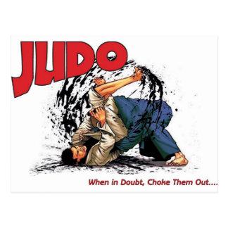 Judo kväv ut vykort