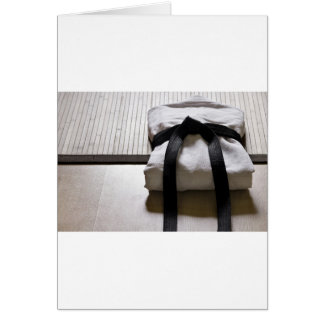 JudoGi på matta Tatami Hälsningskort