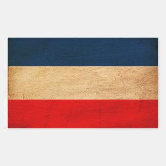 Jugoslavien flagga rektangulärt klistermärke