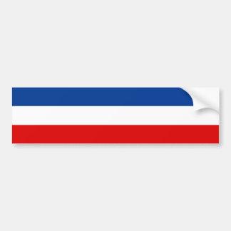 Jugoslavien/jugoslavisk flagga. Kungarike av Bildekal