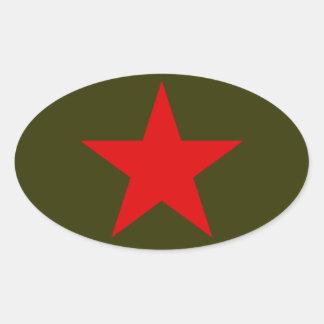 Jugoslavien röd stjärna ovalt klistermärke
