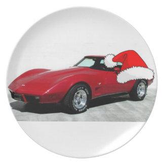 Jul 1979 röda Corvette Tallrik