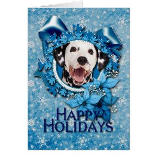 Jul - blåttSnowflake - Dalmatian Hälsningskort