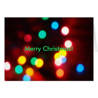 Jul Bokeh, god jul! Hälsningskort