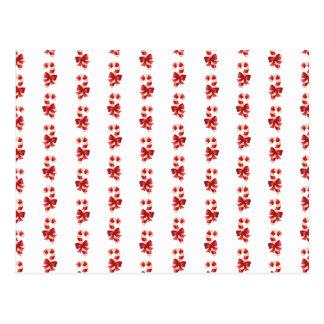 Jul Candycanes Vykort