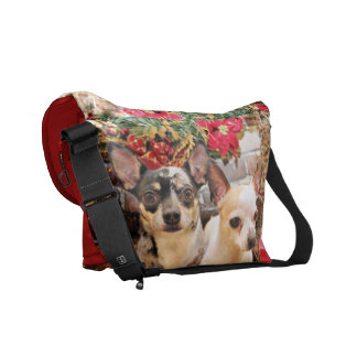 Jul - Chihuahua - Gordy och Pedro Messenger Bag