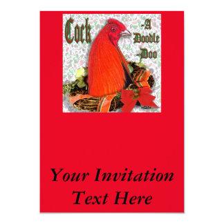 Jul Cockadoodledoo 12,7 X 17,8 Cm Inbjudningskort